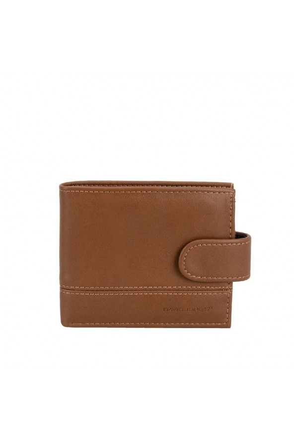 Porte-cartes en synthétique David Jones - Marron