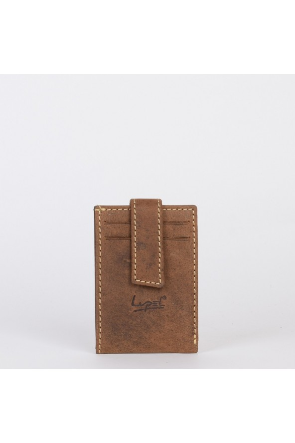 Porte-cartes en cuir Lupel - Marron
